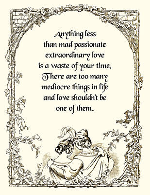 Mad Passionate Love Art Print