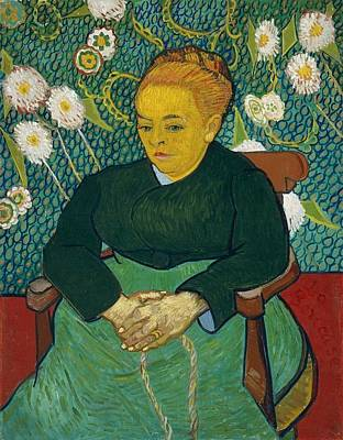Lullaby Painting - Madame Augustine Roulin Rocking A Cradle by Vincent van Gogh