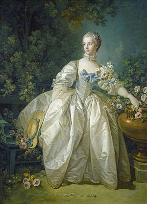 Madame Bergeret, C. 1766 Oil On Canvas Art Print