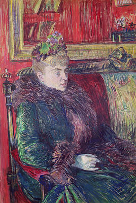 Belle Epoque Photograph - Madame De Gortzikoff, 1893 Oil On Canvas by Henri de Toulouse-Lautrec