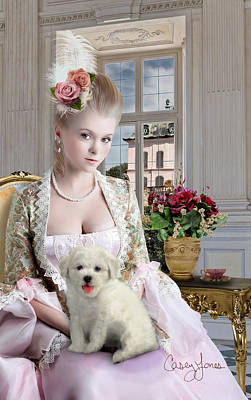 Aristocrat Digital Art - Madame De Pompadour by Casey Jones