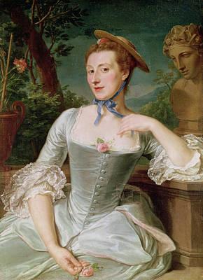 Madame Photograph - Madame De Pompadour Oil On Canvas by Francois-Hubert Drouais