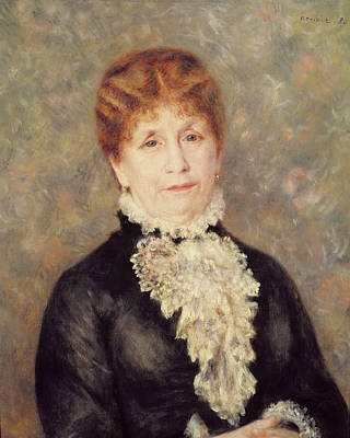 Ruff Painting - Madame Eugene Fould by Pierre Auguste Renoir