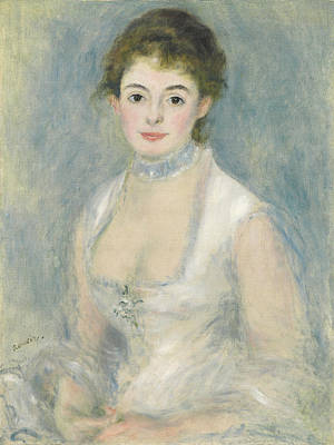Choker Painting - Madame Henriot by Pierre Auguste Renoir