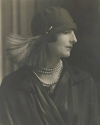 Cloche Hat Photograph - Madame Porel Wearing An Alex Hat by Edward Steichen