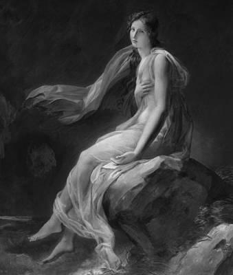 Windy Drawing - Madame Recamier by Alexandre Evariste Fragonard