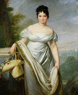 Madame Tallien 1773-1835 Oil On Canvas Art Print