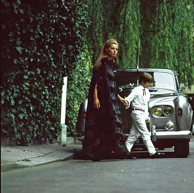 Silver Photograph - Madame Xavier Givaudan Wearing Fur by Arnaud de Rosnay