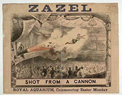 Madame Zazel Shot From A Cannon Print by British Library