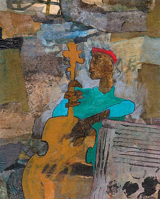 Art Print featuring the mixed media Madcap Bass by Catherine Redmayne