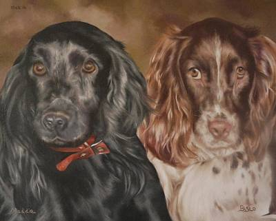 Painting - Maddie And Bisto by Cherise Foster