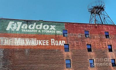 Milwaukee Road Photograph - Maddox Transfer by David Bearden