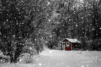 Made In Maine Winter  Art Print by Brenda Giasson