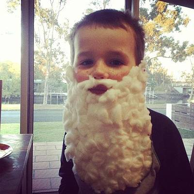 Wizard Photograph - Made My Young Bloke His First Beard by Glen Bryden