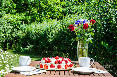 Photograph - Made Summer Table In Garden by Kennerth and Birgitta Kullman