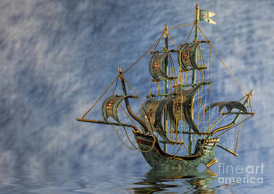 Photograph - Madeira Sailing Ship by Shirley Mangini