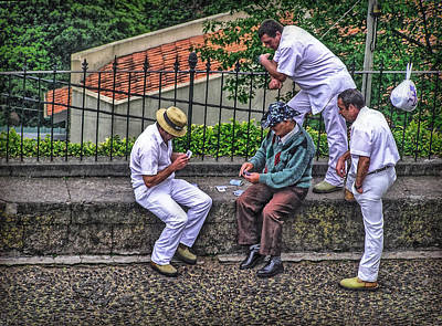 Photograph - Madeira Toboggan Drivers by Hanny Heim
