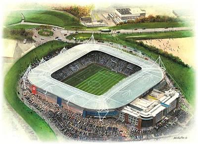Madejski Stadium - Reading Art Print by Kevin Fletcher