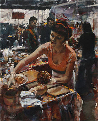 Painting - Madelaine In The Market by Gavin Calf