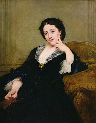 Lace Photograph - Madeleine Brohant 1833-1900 Of The Comedie-francaise, 1860 Oil On Canvas by Paul Baudry
