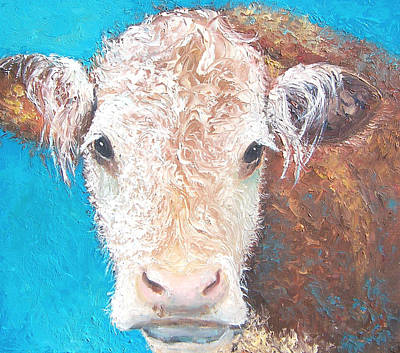 Cow Art Painting - Madelyn The Cow by Jan Matson