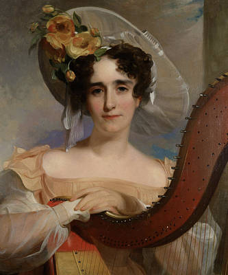 Nose Painting - Mademoiselle Ade Sigoigne by Thomas Sully