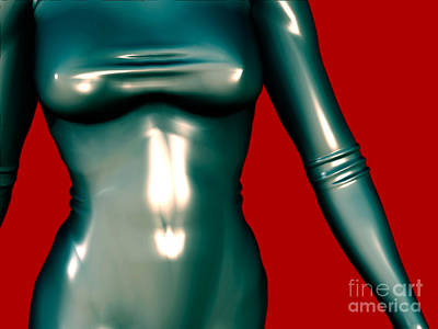 Digital Art - 2 -mademoiselle Contenu Les Bleu by Luc Van de Steeg