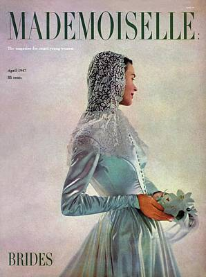 Wedding Dress Photograph - Mademoiselle Cover Featuring A Bride by Gene Fenn