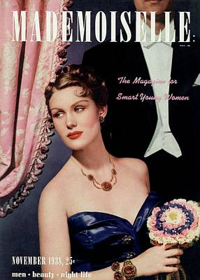 Photograph - Mademoiselle Cover Featuring A Model In An Opera by Paul D'Ome