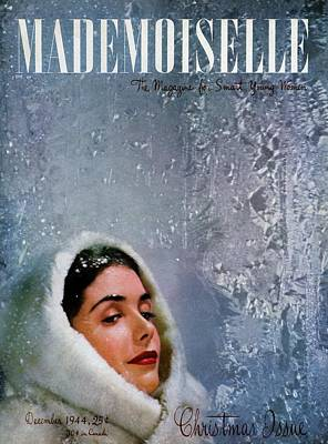 Photograph - Mademoiselle Cover Featuring A Model Wearing by James Abbe Jr