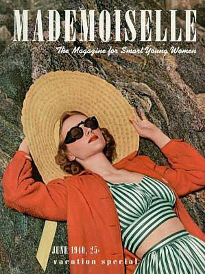 Photograph - Mademoiselle Cover Featuring A Model Wearing by Paul D'Ome