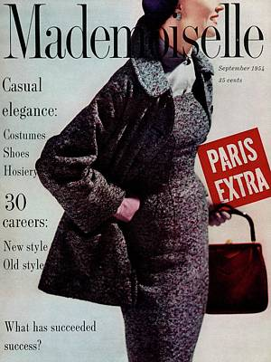 Coronet Photograph - Mademoiselle Cover Featuring A Model Wearing by Stephen Colhoun