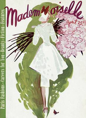 Photograph - Mademoiselle Cover Featuring A Woman Carrying by Elizabeth Dauber