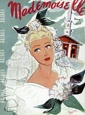Photograph - Mademoiselle Cover Featuring An Illustration by Elizabeth Dauber