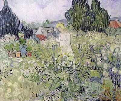 Marguerites Painting - Mademoiselle Gachet In Her Garden At Auvers-sur-oise, 1890  by Vincent van Gogh