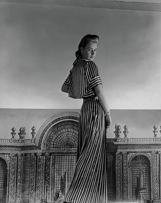 Mademoiselle Guillermo De Blanck In A Satin Dress Print by Horst P. Horst