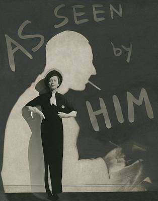 Fashion Illustration Wall Art - Photograph - Mademoiselle Koopman Wearing A John Mcmullin by George Hoyningen-Huene