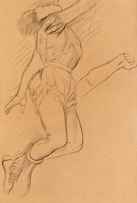 Jump Drawing - Mademoiselle La La At The Circus Fernando by Edgar Degas