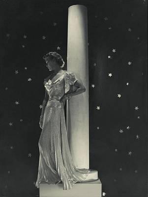 Mademoiselle Lind Wearing A Mainbocher Dress Art Print