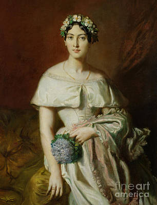 Mademoiselle Marie Therese De Cabarrus Art Print by Theodore Chasseriau