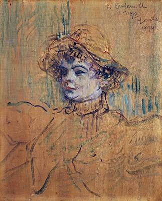 Nys Painting - Mademoiselle Nys by Toulouse-Lautrec