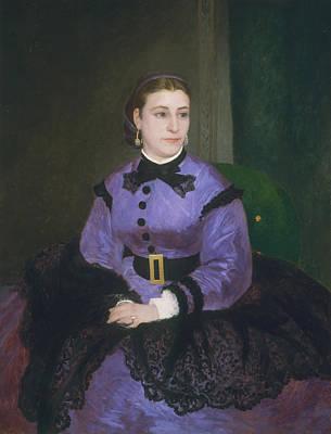 Painting - Mademoiselle Sicot by Auguste Renoir