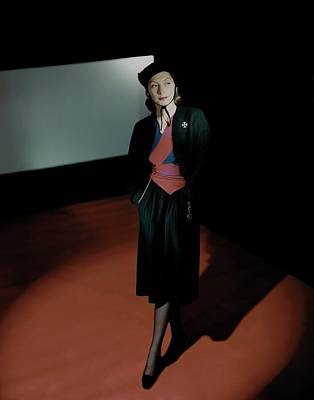 Black Jacket Photograph - Mademoiselle Valentina In Shadows by Horst P. Horst