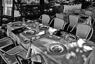 Art Print featuring the photograph Madera Table For Lunch by Rick Bragan