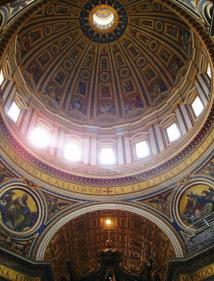 Photograph - Madernos Nave Cupola by Ellen Henneke
