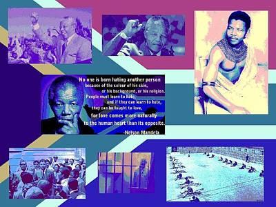 Digital Art - Madiba Mandela by Karen Buford