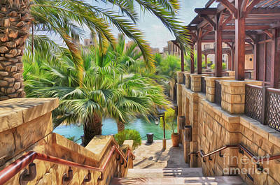Photograph - Madinat Jumeirah Souk - Dubai by George Paris