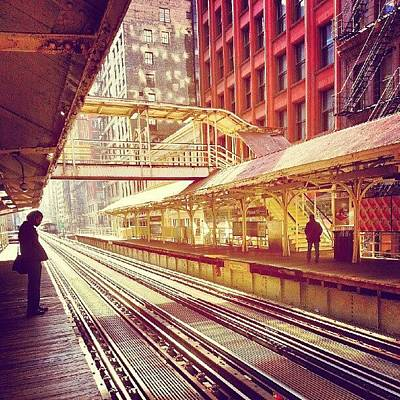 Track Photograph - Madison And Wabash by Jill Tuinier