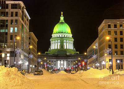 Photograph - Madison Capitol by Steven Ralser