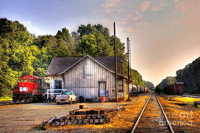 Photograph - Madison Historic Rail Road Station Madison Georgia by Reid Callaway